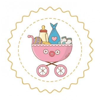 Baby douche schattige illustratie