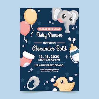 Baby douche uitnodiging ontwerp