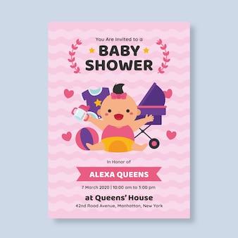 Baby douche uitnodiging sjabloon