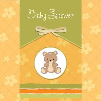 Baby douchekaart met teddy