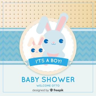 Baby douchemalplaatje voor jongen