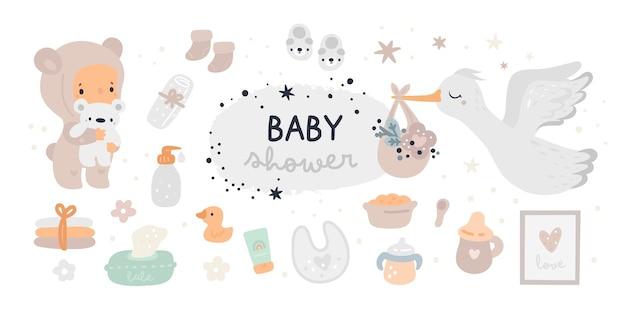 Baby doucheset. new born essentials collectie. kwekerij moet hebben