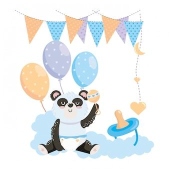 Baby douchesymbool en panda