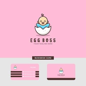 Baby egg-logo en visitekaartje