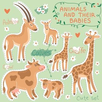 Baby en mama dieren set