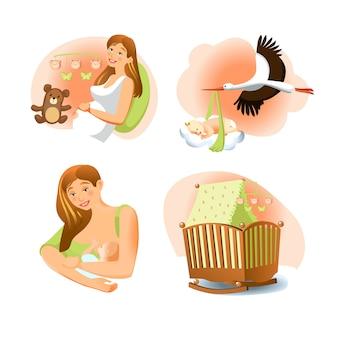 Baby geboorte set