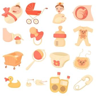 Baby geboren pictogrammen instellen