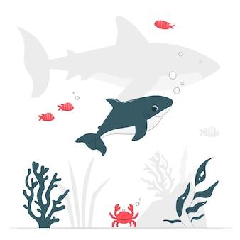 Baby haai concept illustratie