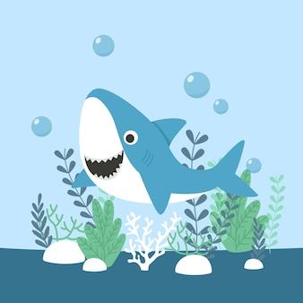 Baby haai plat ontwerp