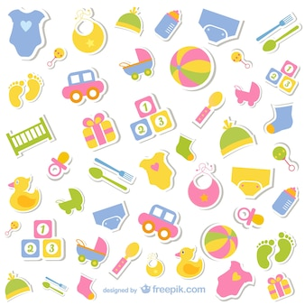 Baby-iconen collectie gratis