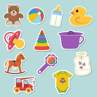 Baby illustraties stickers