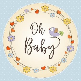 Baby jongen douche kaart