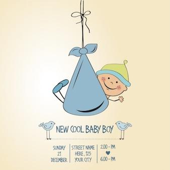 Baby jongen douche-kaart