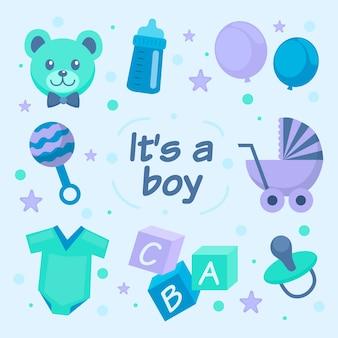 Baby jongen douche thema