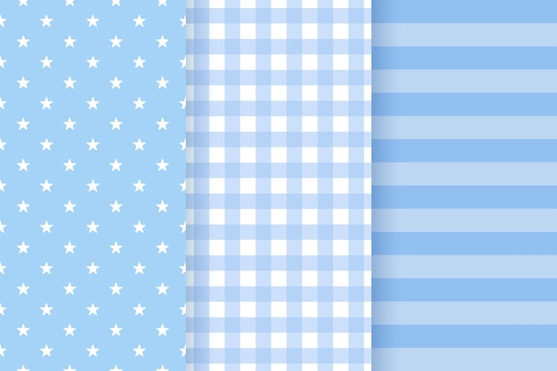 Baby jongen patroon. baby shower naadloze patroon. blauwe pastel kinderachtige textuur. platte ontwerp illustratie
