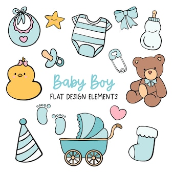 Baby jongen platte ontwerpelement.