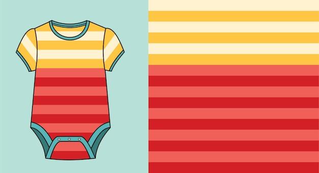 Baby jumpsuit met streeppatroon
