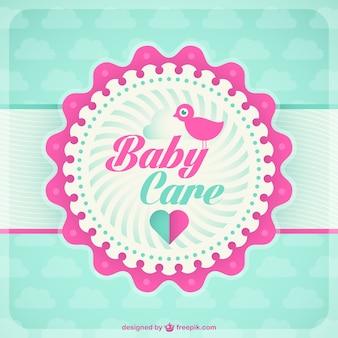 Baby kaart sjabloon