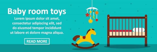 Baby kamer speelgoed banner horizontaal concept