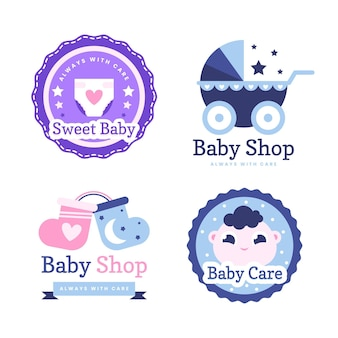Baby logo collectie sjabloon