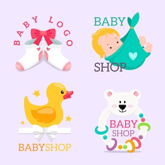 Baby logo set sjabloon
