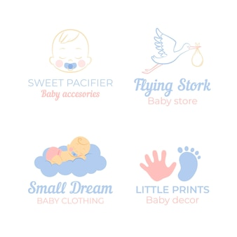 Baby logo sjabloon collectie