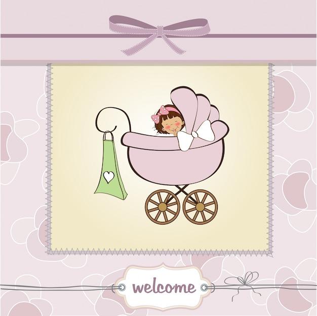 Baby meisje aankondigingskaart