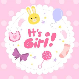 Baby meisje douche ontwerp