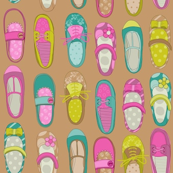 Baby meisje schoenen achtergrond