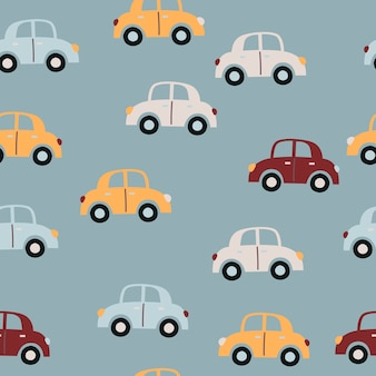 Baby naadloos patroon met auto's