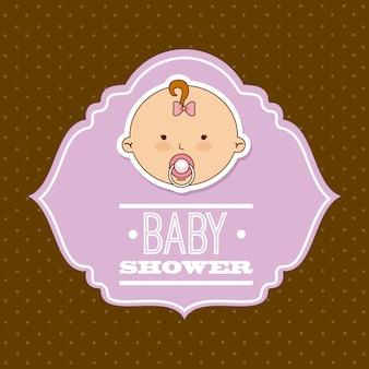Baby ontwerp over bruine achtergrond vectorillustratie