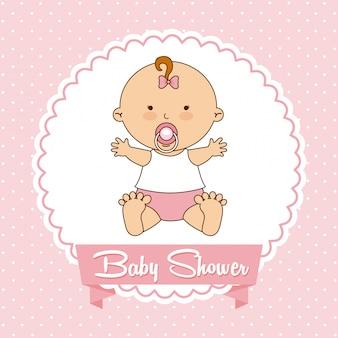 Baby ontwerp over roze achtergrond vectorillustratie