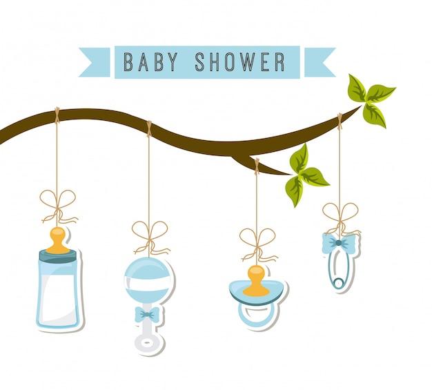 Baby ontwerp over witte achtergrond vectorillustratie