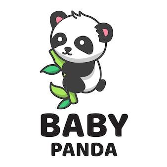 Baby panda schattig logo