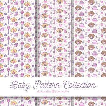 Baby patronen collectie met elementen