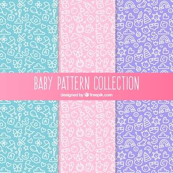 Baby patroonverzameling van drie