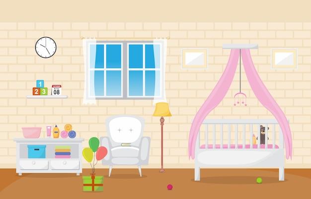 Baby peuter kinderen slaapkamer interieur kamermeubilair