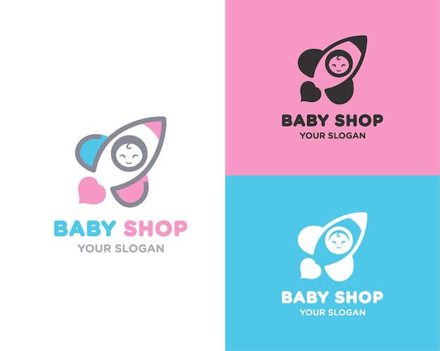 Baby rocket store naam logo