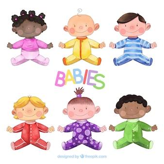 Baby's collectie in aquarel stijl