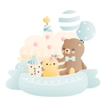 Baby shower babyjongen element