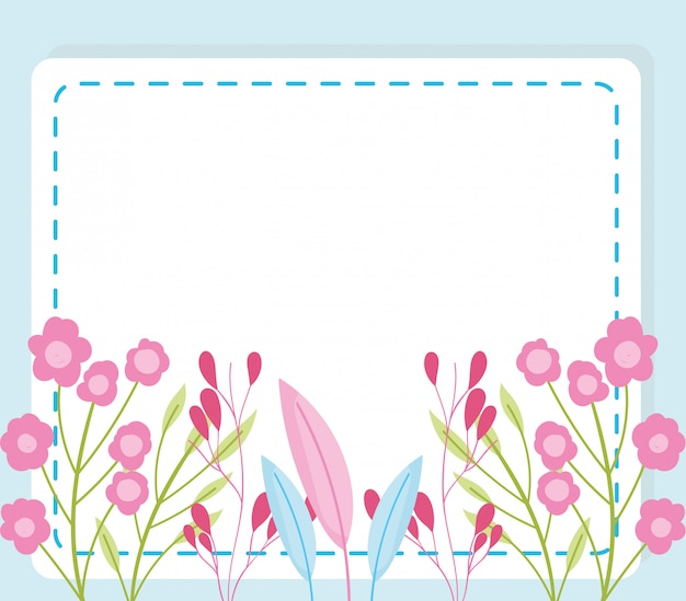 Baby shower, bloemen gebladerte natuur decoratie kondigen pasgeboren welkomstsjabloon kaart
