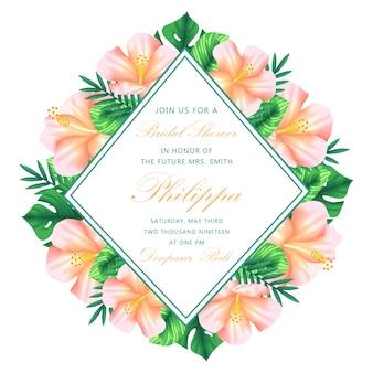 Baby shower bloemen uitnodiging