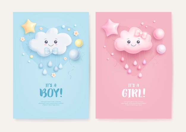 Baby shower card collectie