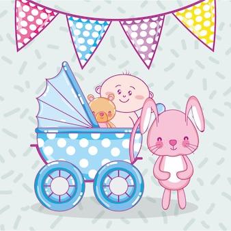 Baby shower cartoons