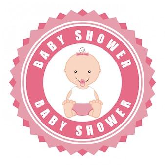 Baby shower eenvoudig element