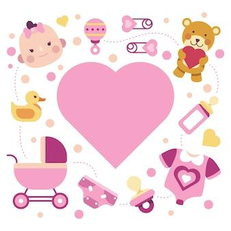 Baby shower evenement voor meisje ontwerp