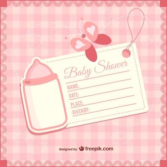 Baby shower girly uitnodiging
