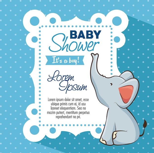 Baby shower jongen uitnodigingskaart