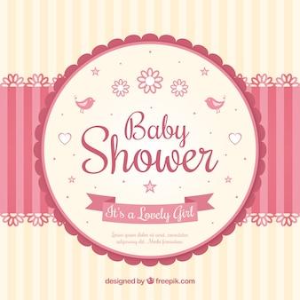 Baby shower-kaart met een mobiele