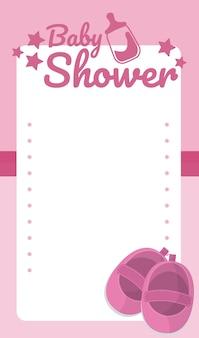 Baby shower lege kaart